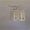 Sterling Silver Plated Rectangle Tree Earrings