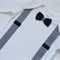 Baby Onesie Bow Tie & Braces Applique   Sizes 0000 to 0   Short & Long Sleeved