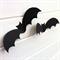 Halloween Bat shapes, cut-outs. Black 3D bats, Spooky holiday party decorations