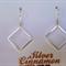 Sterling Silver Diamond shape Earrings
