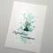 Mint Flower Engagement Card