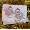 Christmas Card with Feathertail Gliders, bottle brush flowers