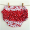 Size 6 to 12 months Nappy Cover Frilled bloomers Christmas Birds