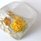 Real daisy flowers clear resin RING SZ L