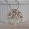 Swarovski Crystal and Pearl Handmade Twisted Wire Tree Pendant Necklace – Mauve