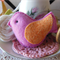 Pink Felt Bird Decoration