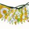 Vintage Retro Yellow & Eco - Green  Floral Flag Bunting. Australia Day