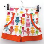 Girls Robot Sailor Shorts - Size 4