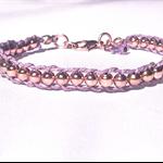 Beaded wrap bracelet, rose gold wrap bracelet, hemp bracelet