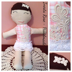 Rag doll with real vintage motif