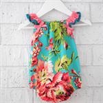 Summer Baby Girl Playsuit - romper floral, newborn, girl