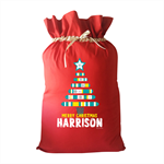 Christmas tree Personalised Christmas Santa Sack