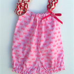Size 3-6 months Romper Playsuit Pink Princess Crowns