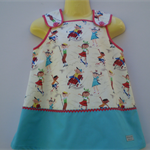 Fun at the Park Sundress with Red Spot Trim