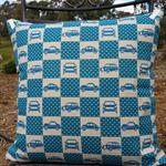 Unique Japanese car print cushion (50 cm square)