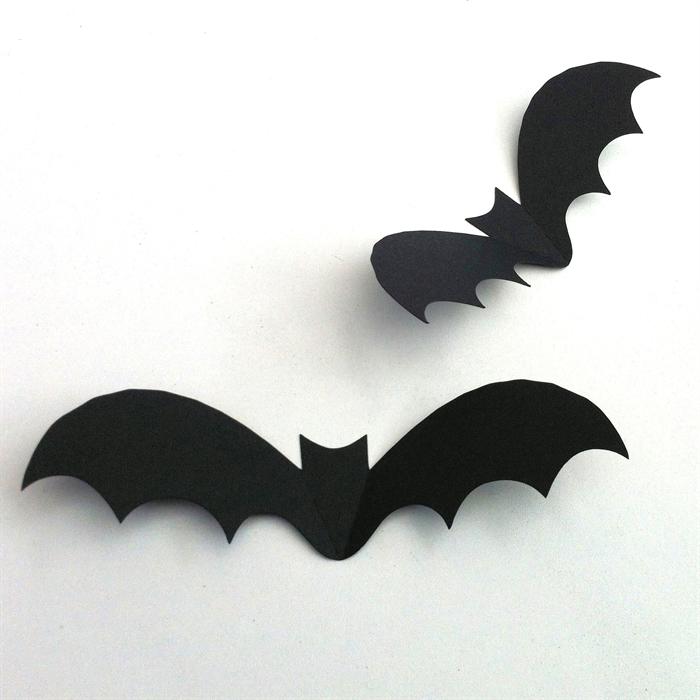 halloween bat shapes cut outs black 3d bats spooky holiday party decorations - Halloween Bat Pics