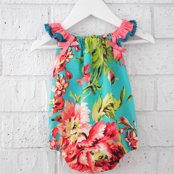 53dba6c130a5 Summer Baby Girl Playsuit - romper floral