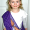 PURPLE STARS Baby Dolly Carrier Carry Sling + Free mini Doll's Taggie