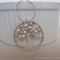 Swarovski Crystal & Pearl Handmade Wire Tree Necklace – Rosaline & Light Grey