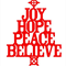 Joy Hope Peace Believe, Wall Art Removable Decal
