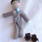 The Faceless Man Crochet Doll - The invisible man - Halloween prop