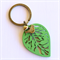 Green Leaf, Bird & Heart Keyring