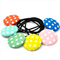 Covered button hair tie gift pack