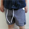 Size 6 months Size 2, 3 and 4 Boys Simple Shorts BLACK GINGHAM with pockets