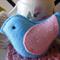 Blue felt bird decoration