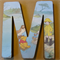 Wooden Letter ''M'