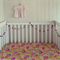 Floral Peonies fitted cot sheet