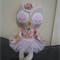 Custom Order - Vintage Owl with Tutu for Nathaya