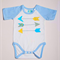 Size 0 - Arrow in Print  on Baby Blue and White Australian Made Onesie