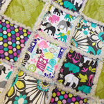 Jungle Print Cot Size Ragged Quilt