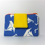Fabric Wallet Purse, summer 2015, white sailboats on blue