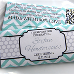 Personalised Chevron Christening Baby Shower Chocolate Wrapper