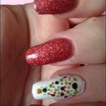 'On the Naughty List' Glitter nail polish.