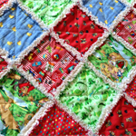I SPY Cot Size Ragged Quilt