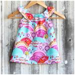 Size 000 to 1 - Happy Hills, Ruffle Neck Dress