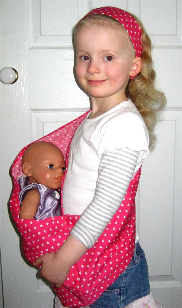 edca58d8745 HOT PINK STARS Baby Doll Carrier Carry Sling + Free mini Doll s Taggie