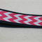 Key fob, keychain, wristlet, keyfob - navy with pink and white chevrons