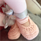 Crocheted Ballet Shoe |  NB to 12M | Custom Colour | Made to Order