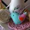 Aqua Felt Bird Decoration