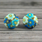 Buy 2 sets, get 3rd free (Fabric button studs only). Blue sakura