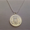 Sterling Silver Plate French Coin necklace