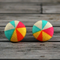 Buy 2 sets, get 3rd free (Fabric button studs only).  Bright Pinwheels