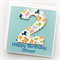 Any Age personalised card children kids age happy birthday fish ocean sea