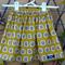 SIZE 7| Apple print skirt | Stunning mustard coloured linen