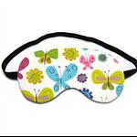Butterfly on White Sleep Eye Mask
