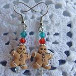Gingerbread Man - Ceramic Christmas Earrings